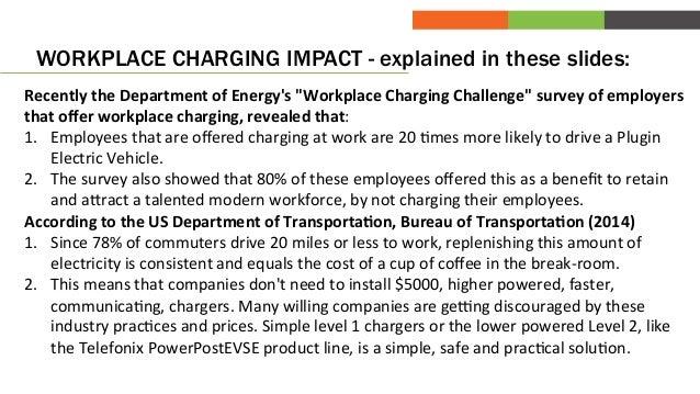 Workplace charging works! So lets make it simple! Slide 2