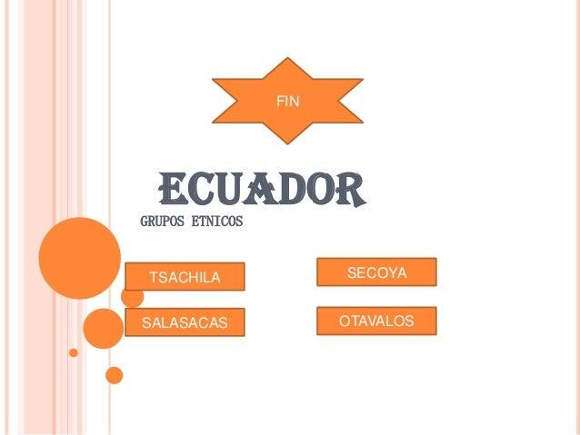 ECUADORGRUPOS ETNICOS TSACHILA SECOYA SALASACAS OTAVALOS FIN