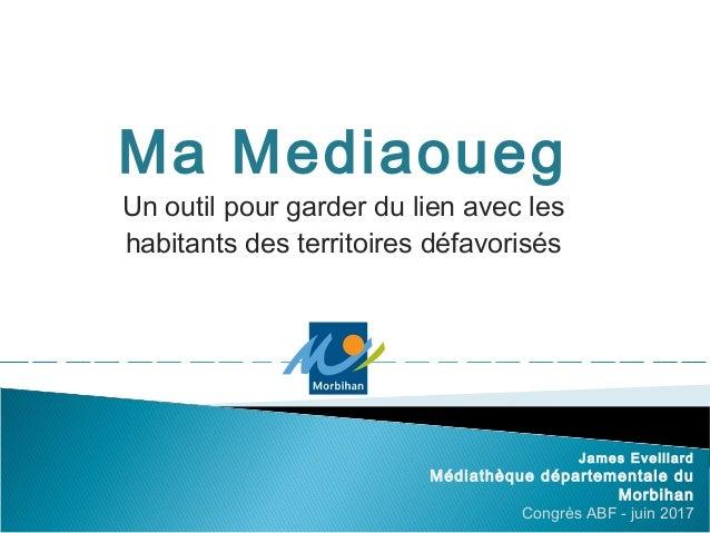 Ma Mediaoueg Un outil pour garder du lien avec les habitants des territoires défavorisés James Eveillard Médiathèque dépar...