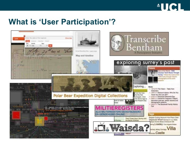 What is 'User Participation'?<br />