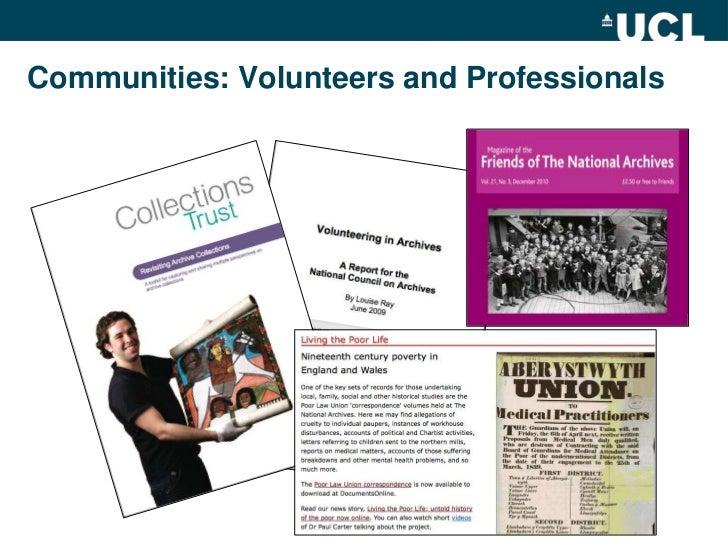 Communities: Volunteers and Professionals <br />