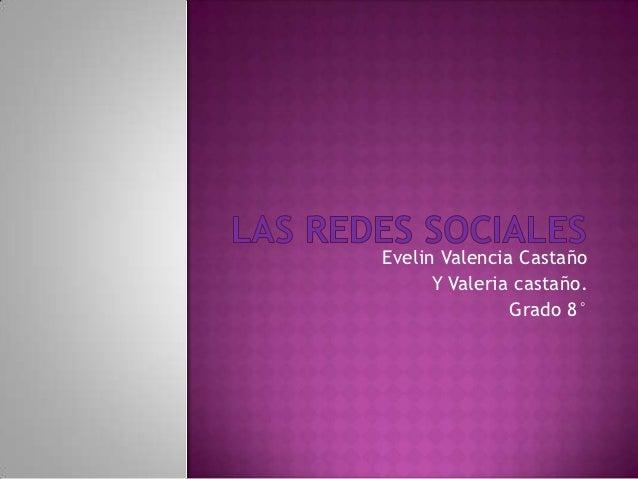Evelin Valencia Castaño      Y Valeria castaño.               Grado 8°
