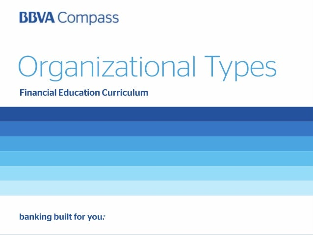 Organizational Types and Considerations FOR A SMALL BUSINESS