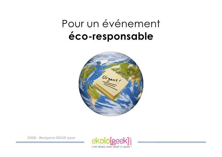 Pour un événement                    éco-responsable     !quot;quot;#$%$&'()*+,($-./0$1234$
