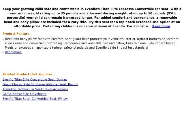 Buy Evenflo Titan Elite Espresso Convertible Car Seat 2