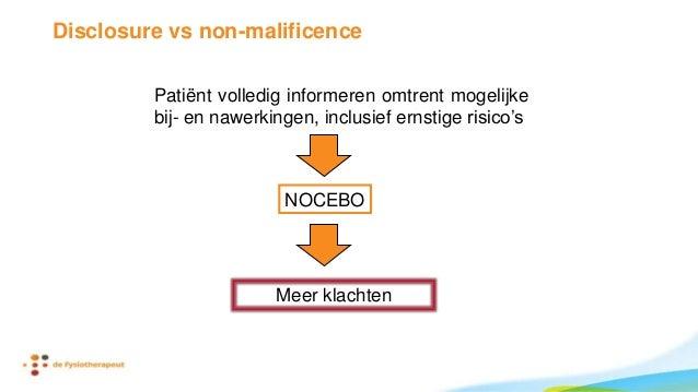 Samenvattend • Maak gebruik van het brein van de patiënt • placebo bewust toepassen • nocebo bewust vermijden • Pas op wat...