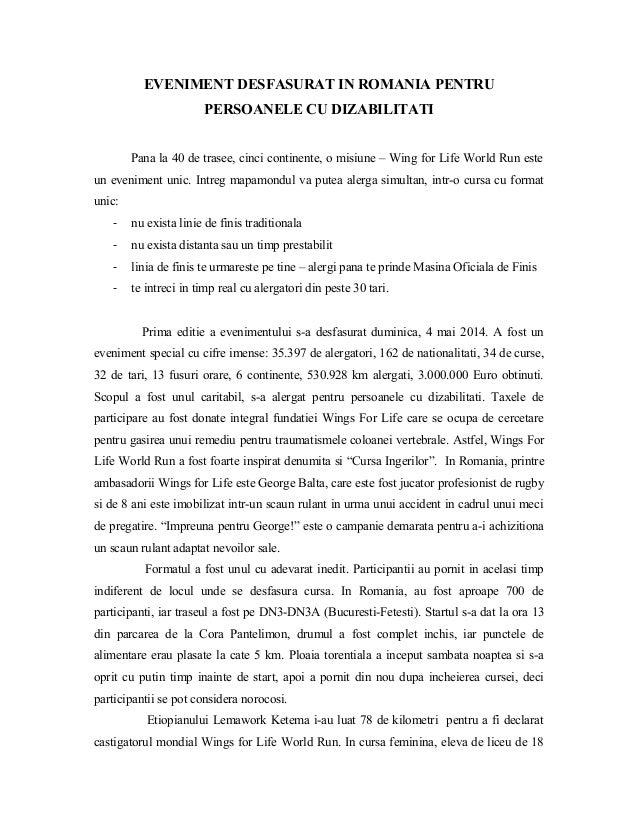 EVENIMENT DESFASURAT IN ROMANIA PENTRU PERSOANELE CU DIZABILITATI Pana la 40 de trasee, cinci continente, o misiune – Wing...