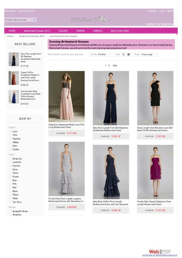 Order Status Customer Service Register Log In MyCart(0) Product name or code Fashion for Bridesmaids BEST SELLERS Navy Flo...