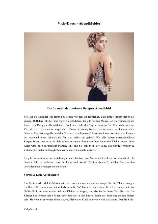 Vickydress.ch VickyDress - Abendkleider Die Auswahl der perfekte Designer Abendkleid Wie Sie die aktuellen Modetrend zu se...