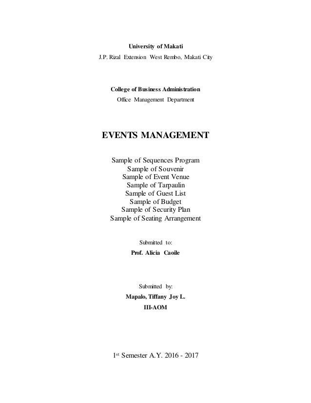 Management List Sample. Final Project Management Report Sample