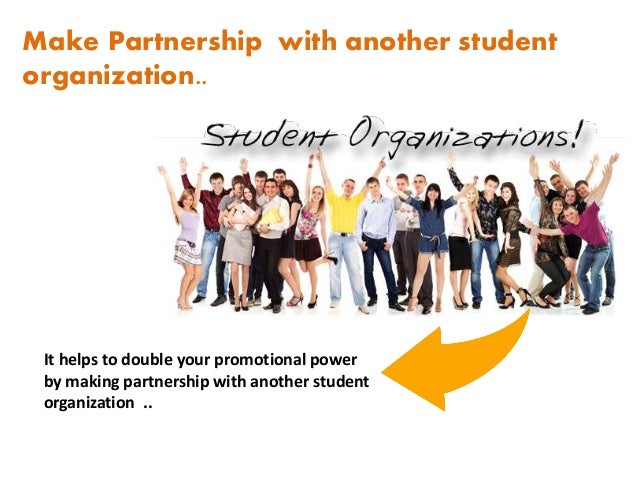 How to promoting events on campus. Slide 2