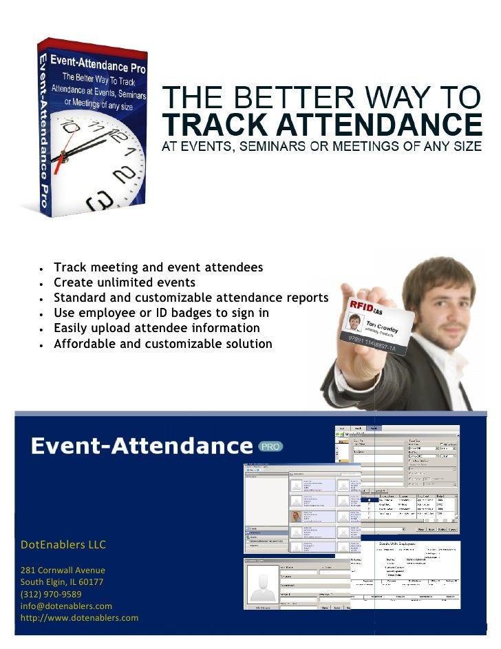 Introduction Thanks for downloading Event-Attendance Pro, the better way to track attendance at events, seminars, conferen...