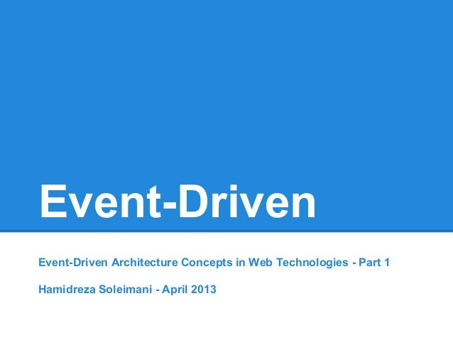 Event Driven Architecture Concepts in Web Technologies ...