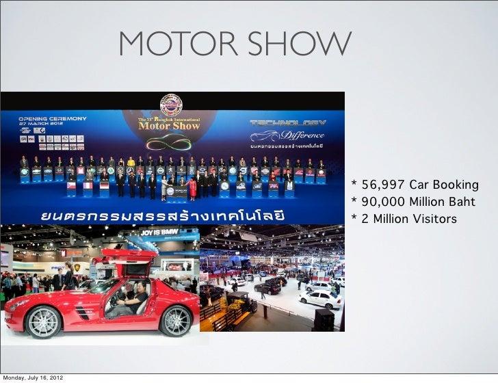 MOTOR SHOW                                 * 56,997 Car Booking                                 * 90,000 Million Baht     ...