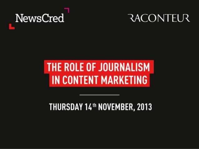 Role of Journalism in Content Marketing  Andrew Grill Partner – Social Business, IBM @AndrewGrill  © 2013 IBM Corporation
