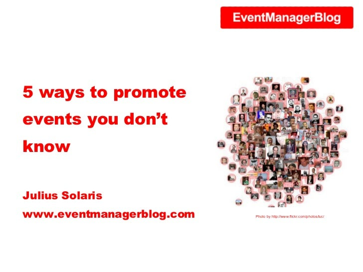 5 ways to promote events you don't know