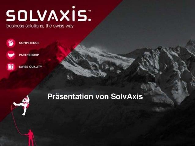 Präsentation von SolvAxis