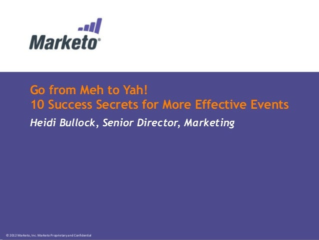 From Meh to Yah: 10 Success Secrets for More Effective Events