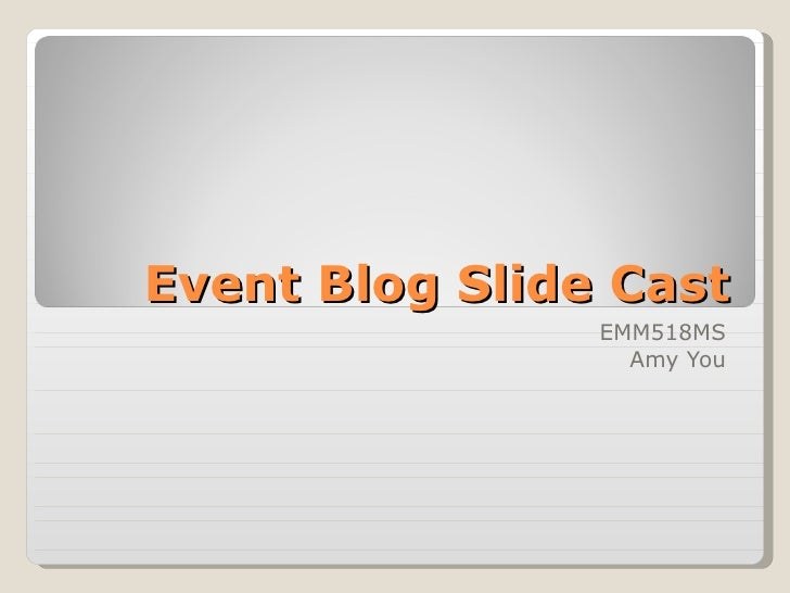 Event Blog Slide Cast EMM518MS Amy You
