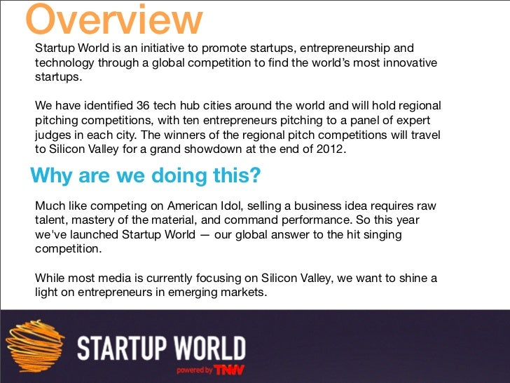 Startup World Deck  Slide 2