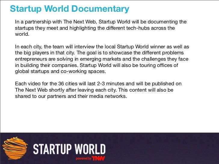 Startup World Deck  Slide 3