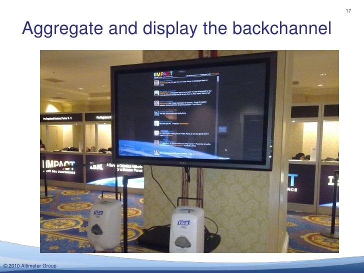 Aggregate and display the backchannel<br />17<br />