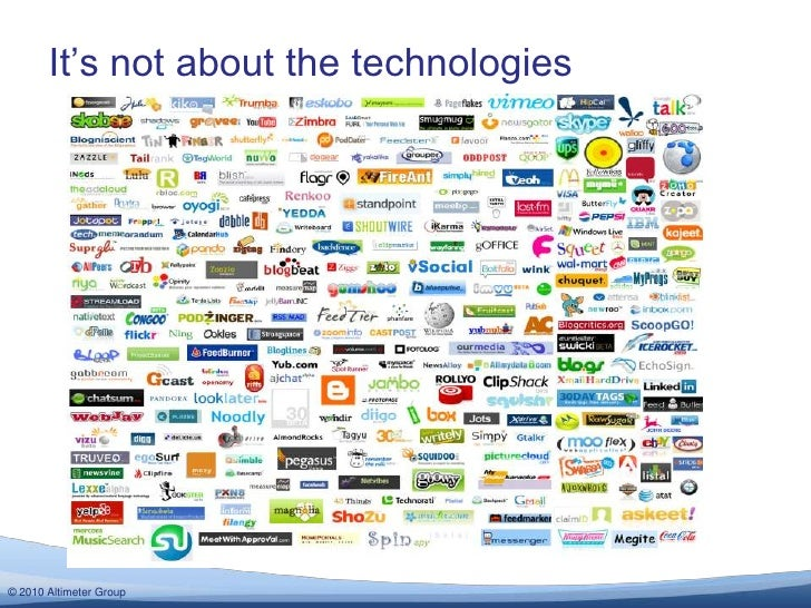 It's not about the technologies<br />
