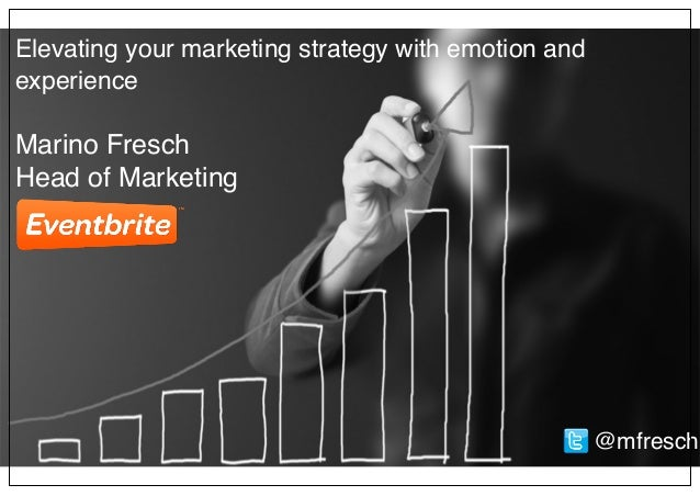 Elevating your marketing strategy with emotion and experience Marino Fresch Head of Marketing @mfresch