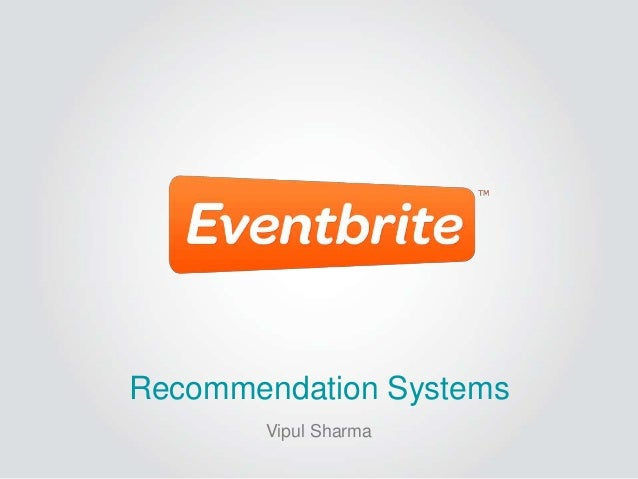 Recommendation Systems       Vipul Sharma