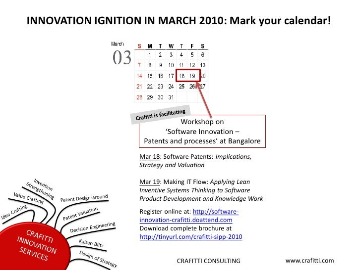 INNOVATION IGNITION IN MARCH 2010: Mark your calendar!                                     Workshop on                    ...