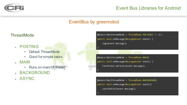 Event Bus by Gokhan Arik - Dalvik Android Talks at CRi
