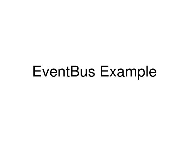 Event Bus Android Example