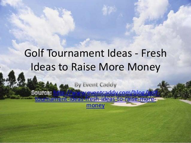 Event Caddy - golf tournament ideas (Raise More Money)