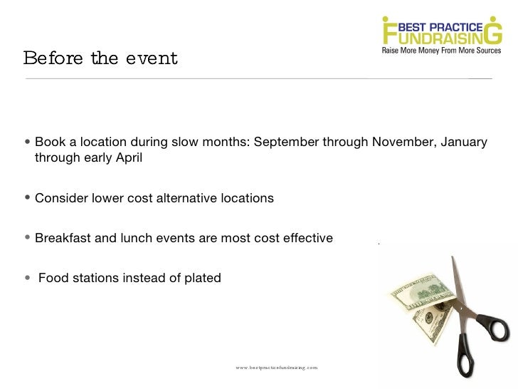 How to cut costs at your next fundraising event: Secrets your vendors don't want you to know Slide 2