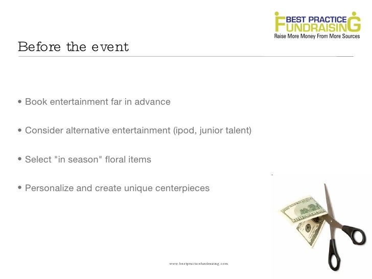 How to cut costs at your next fundraising event: Secrets your vendors don't want you to know Slide 3