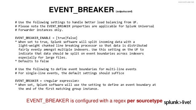 Splunk line break regex