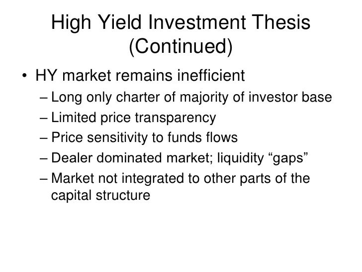 Thesis optimal capital structure