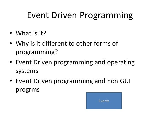 event driven programming amazeballs