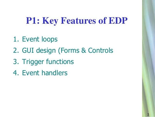 Event driven program key features p1