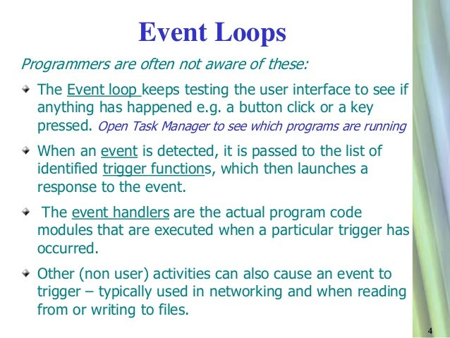 simplicity of programming in event driven programming