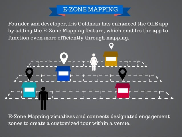 Founder and developer, Iris Goldman has enhanced the OLE app by adding the E-Zone Mapping feature, which enables the app t...