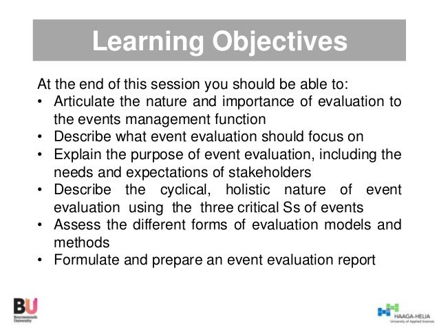 Event evaluation guest lecture – Event Evaluation