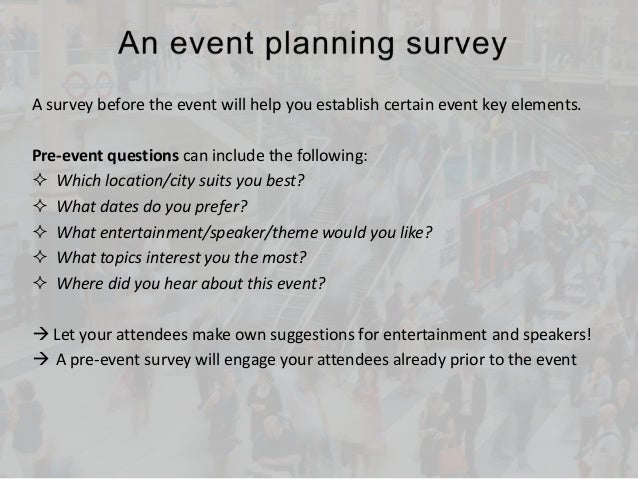 tips for event surveys and feedback