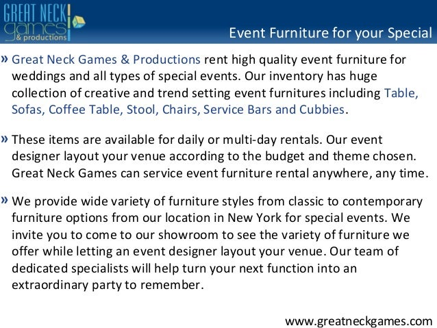 event furniture rental new york event specialists serving ct nj an