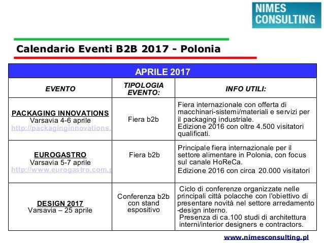 Eventi fiere b2b polonia 2017 for Fiera elettronica calendario 2016