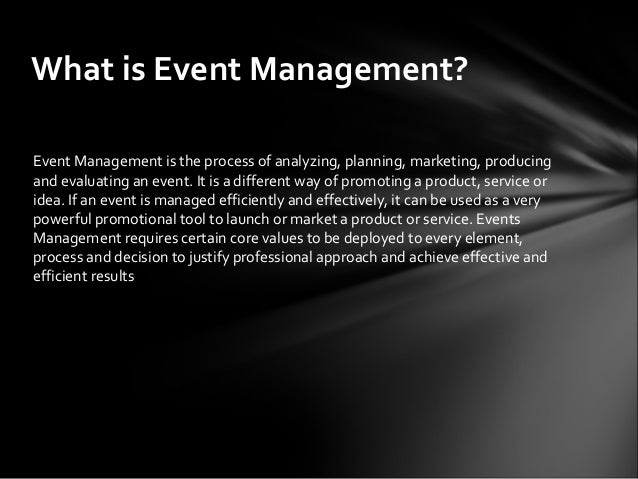 how to manage an event Kenicandlecomfortzonecom