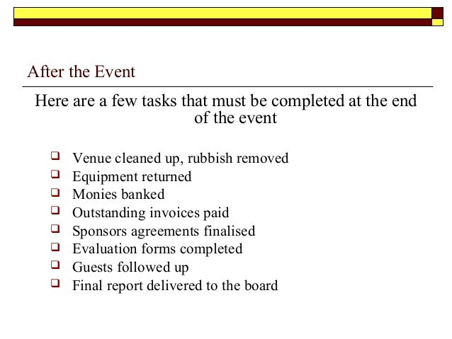 Event management – Event Manual Template