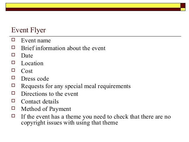 event brief template - event management