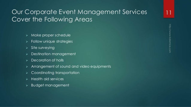 Professional Event Management Services