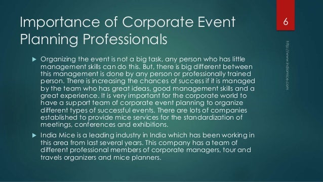 role of event management companies